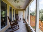 Rocking Chair, Check; Porch, check, waterfront view, check; coffee and good conversations.......