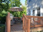 Spacious and functional deck.