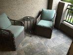Private patio lounge.