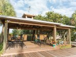 Bayside gazebo with grilling & eating area