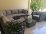 sitting area in the front of the house