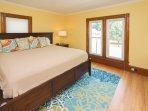 2nd floor front bedroom/King bed.