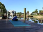 MORNING BLISS III - A GRACEFUL YOGA LESSON FOR TWO IN SERENITY AT THE LOVELY DOCK AND CANAL....