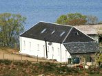 The old steading lodge shares a drive, but enjoys private grounds and parking