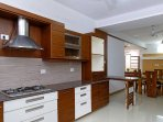 Modern kitchen and breakfast counter