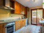 Kitchen through to utility