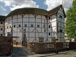 Shakespeare's Globe Theatre, a ten minute walk along the river from the apartment