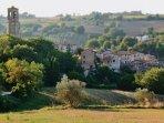 View towards the historic 'borgo' of Papiano