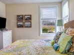 Master bedroom king Posturepedic mattresses on the main floor