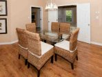 Dining area with table for 6