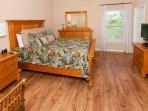 Master bedroom with queen bed