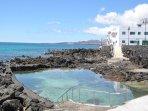 seawater pool in nearby Punta Mujeres