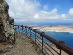 Mirador del Rio viewpoint overlooking the island of La Graciosa