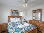 An upstairs bedroom w/new (2016) furniture and a quality mattress