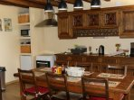 Traditional kitchen / dining area