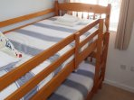 The small twin room with bunkbeds is great for kids or if your partner snores!