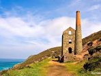 Wheal Coates is 5 minutes drive away. This is on a beautiful stretch of the South West Coast Path