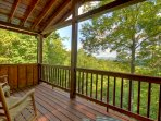 master private porch. Enjoy your morning coffee with that special someone