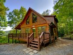 Mountain top cabin with long range views from every room year round!