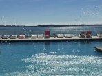 Infinity Pool Deck overlooking Biscayne Bay. True Ocean Front Luxury