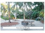 Picnic areas with BBQ are located throughout the resort.