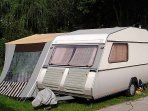 Caravan with front-tent available!