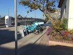 Bike rentals 1 block away