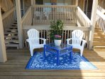 Relax, have a drink, read a book on the first level deck