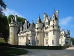 The 'Sleeping Beauty' chateau at Ussé is good for children (45 min drive approx).