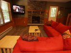 Game Room TV and Fireplace