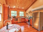 Create delicious meals in the fully equipped kitchen.