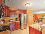 You'll love preparing home-cooked meals in the brand new fully equipped kitchen.