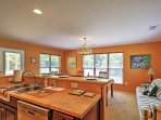 You'll love the open concept layout between the dining area and kitchen.