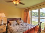 This bedroom offers a comfy full bed.