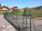 le terrain de tennis privé