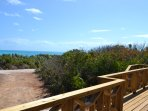 A short walk from the front deck brings you to true white-sand beaches.