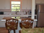 A fully redesigned kitchen includes all of the amenities you'll need for meals.
