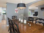 Formal dining, seats 8, great for holidays, large groups, and entraining.