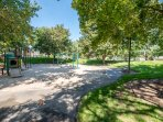 Park directly across from the home!  Playground, soccer, volleyball, full court basketball, and more