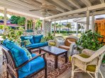 Shared covered patio - great to have a cup of coffee and watch sunrise over intercoastal.