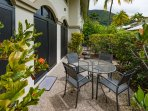 Gorgeous courtyard set in lush tropical gardens just a few steps to the lap pool.