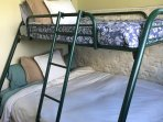The bunk beds are excellent for kids!