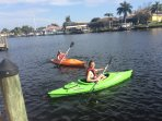 Two kayaks for canal cruises