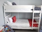 The kids will love the bunk room