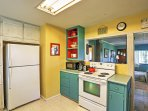 The full kitchen allows you to create delicious home-cooked meals.