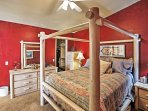 Sleep well on the plush queen bed in the master.