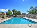 Access to the community pool down the street is included with the rental.