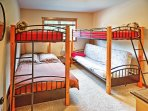 The kids will love the 2 twin-over-full bunk beds!
