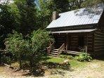 Creekside  Log Cabin Rental: Chinkapin Gap Cabin