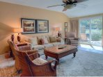 Tastefully decorated with extremely comfy furniture.